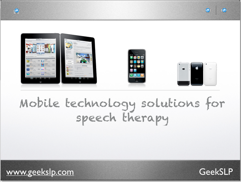 iPad Speech Therapy