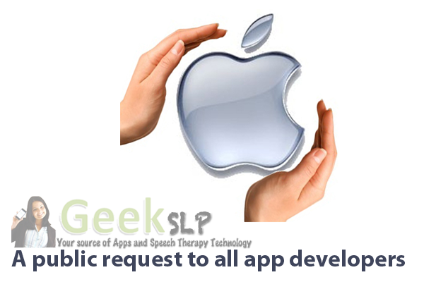 public request to app developers