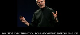 steve jobs speech therapy