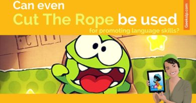"Can even ""Cut the rope"" be used for promoting language skills?"