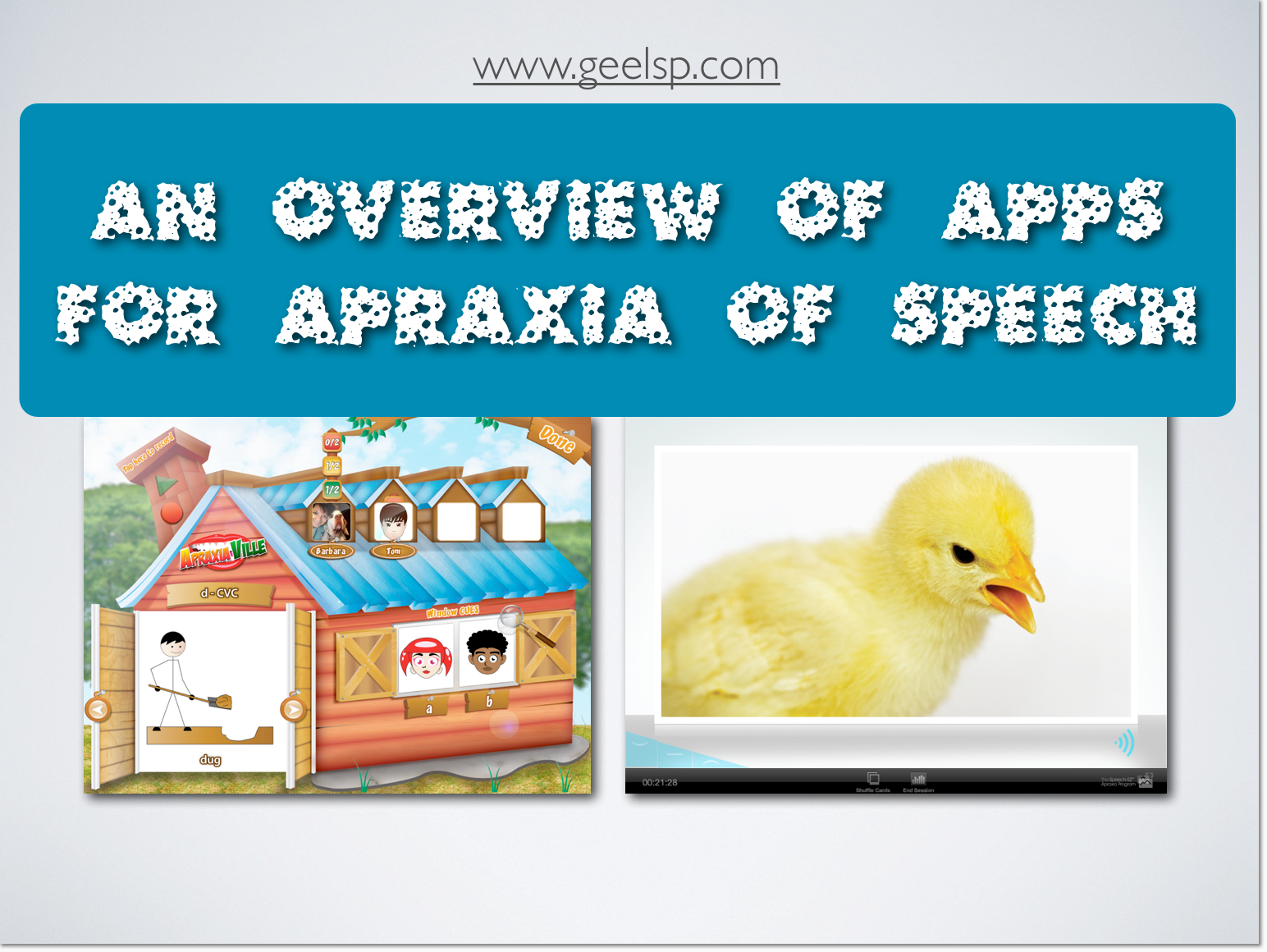 An overview of Apps for Apraxia of Speech