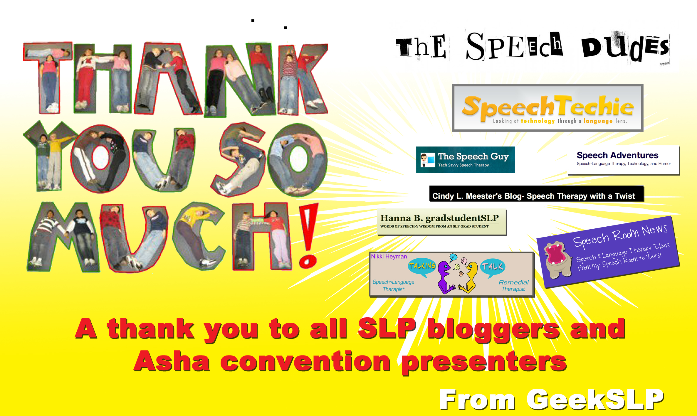 A thank you to all SLP bloggers and Asha convention presenters
