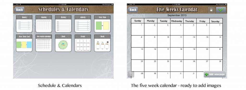 five week calendar custom boards