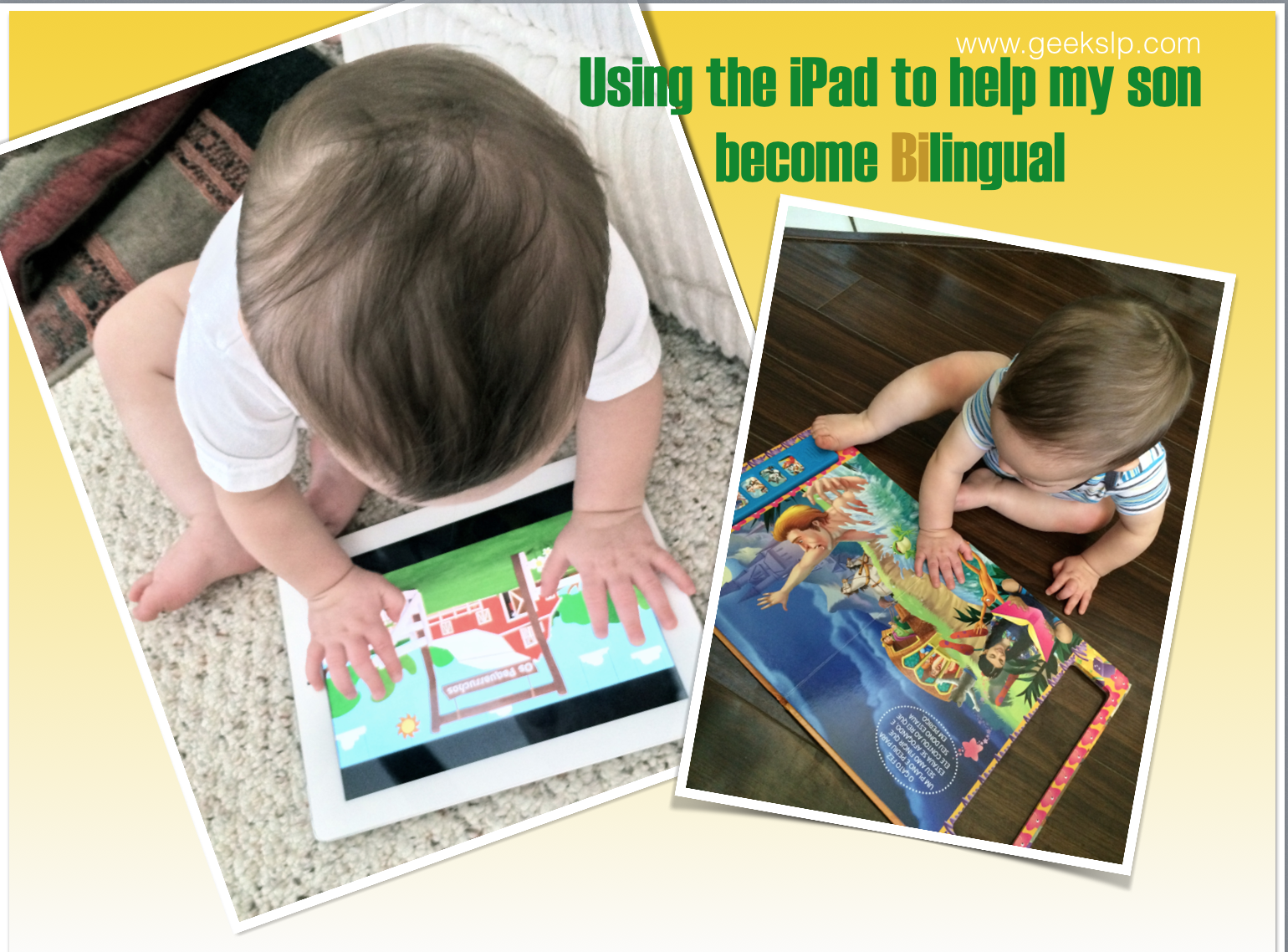 Using the iPad to help my son become Bilingual