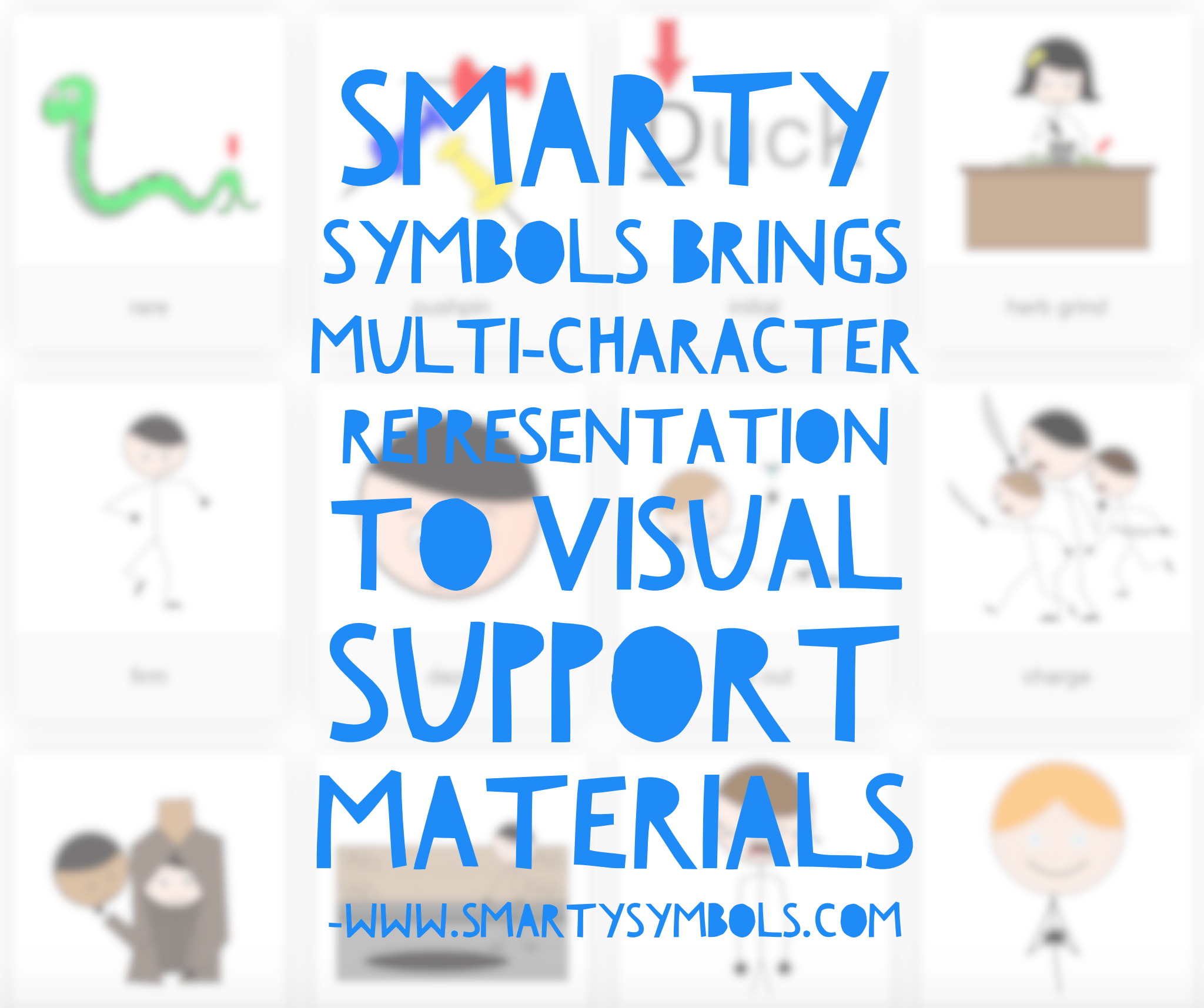Smarty Symbols brings multi-character representation to visual support materials